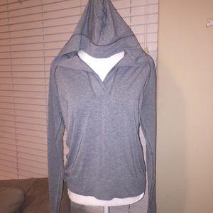 ATHLETA v-neck hoodie